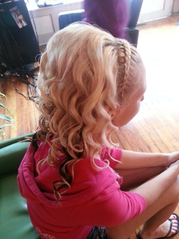 headband braid with curls - photo #4
