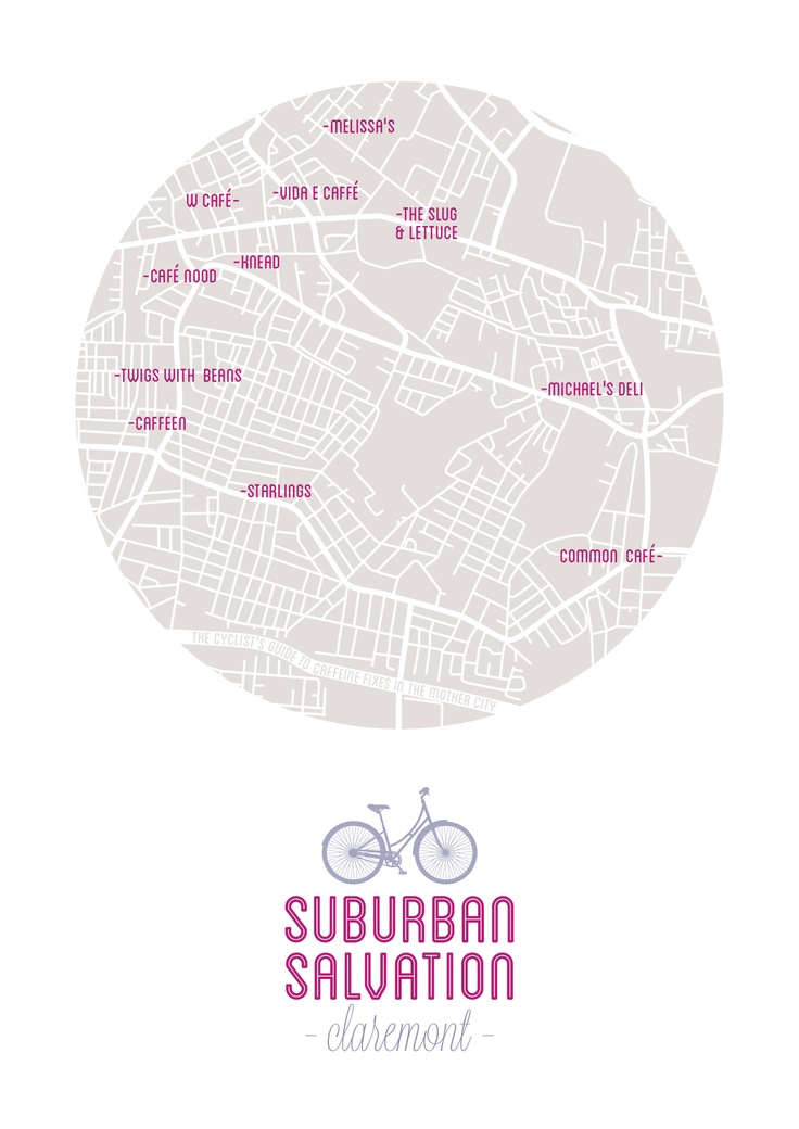 Cape Town's top coffee spots for cyclists (Claremont). Starlings, Melissa's, Caffeen, Vida, Knead, Twigs with Beans, Common Café, Café Nood, Woolworths Café, Michael's, The Slug and Lettuce.