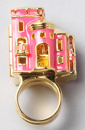 The Barbie Dream House Ring - It even opens up like the real Dream House!!