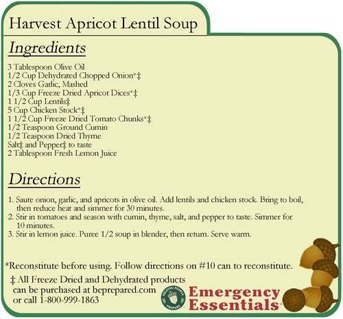 Harvest Apricot Lentil Soup | Favorite recipes | Pinterest