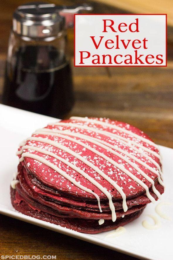 Red Velvet Pancakes!. | Sweets | Pinterest