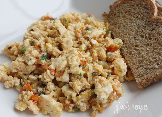 Eggs with Scallions and Tomatoes | Recipe