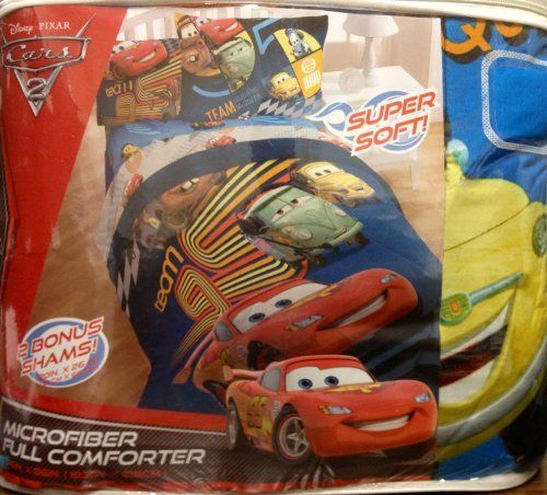 cars 2 full size comforter set includes 2 pillow shams by disney