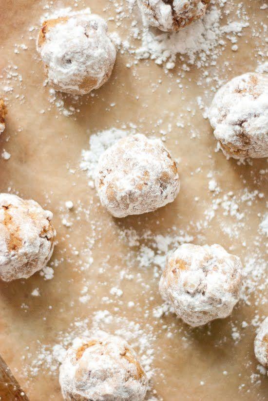 Pumpkin Pecan Polvorones (Mexican Wedding Cookies) | Recipe