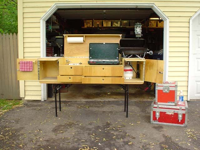 Camp Kitchens : Camp kitchen finished pics  Camping: Chuck Box (Project)  Pinterest