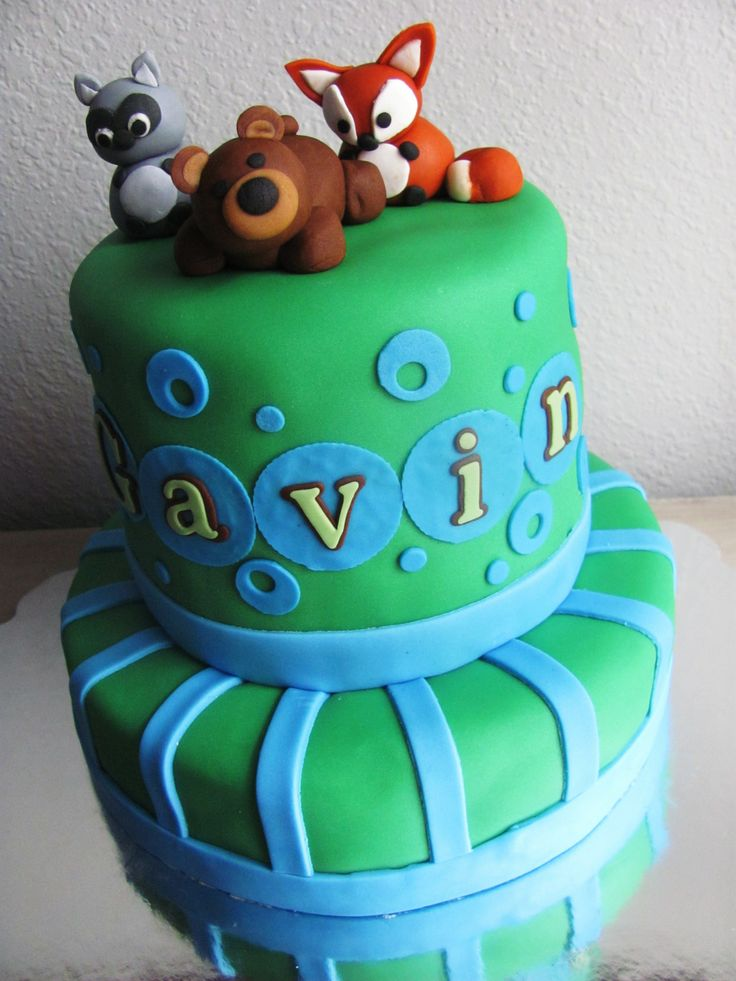 woodland creatures cake baby shower boy baby shower ideas pint
