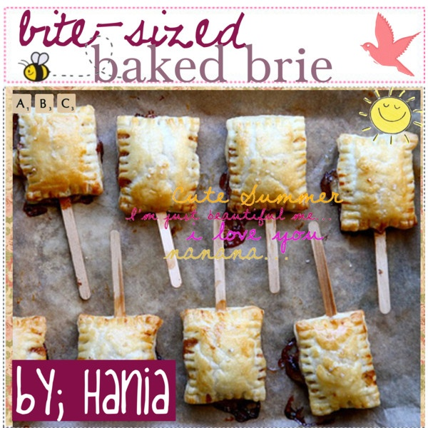 bite-sized baked brie(: ♥, created by polyvoretipteam.polyvore ...
