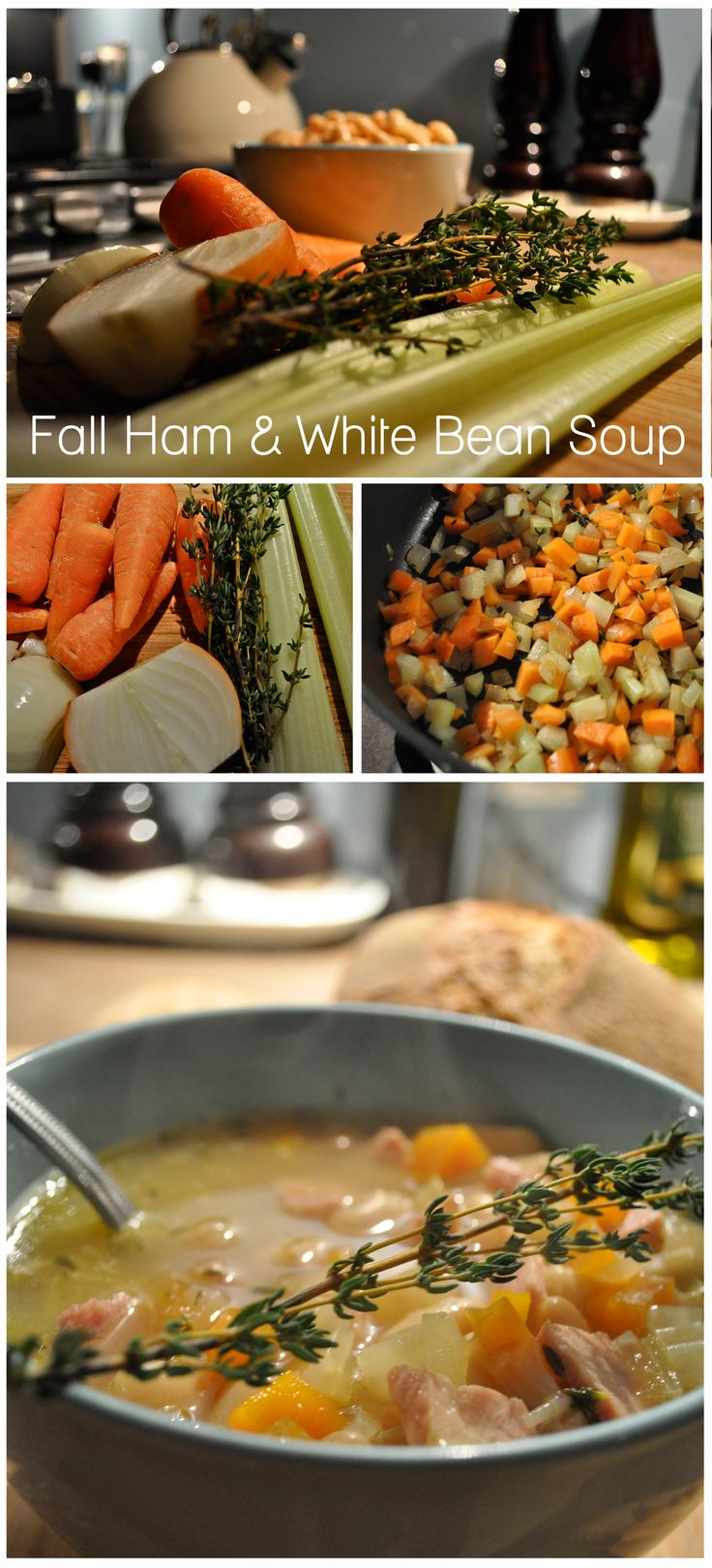 White bean and ham soup | Yummy | Pinterest