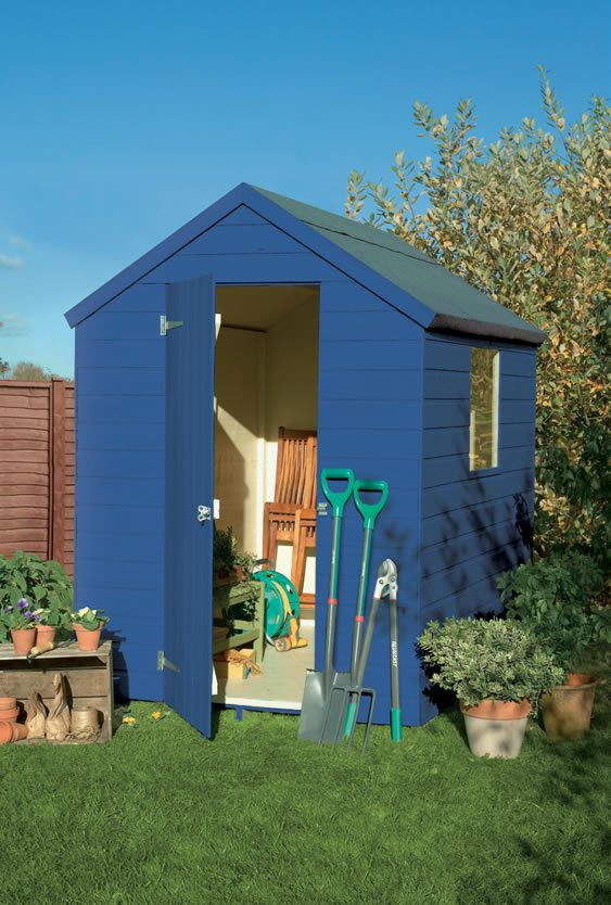 Shed in cuprinol garden shades decor inside out pinterest for Garden shed homebase