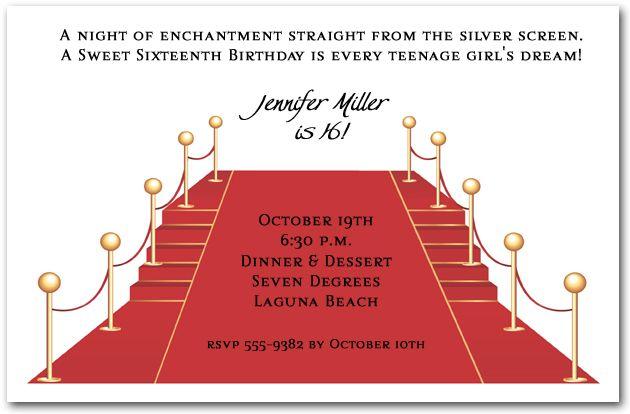 Movie Premiere Invitation is luxury invitation template