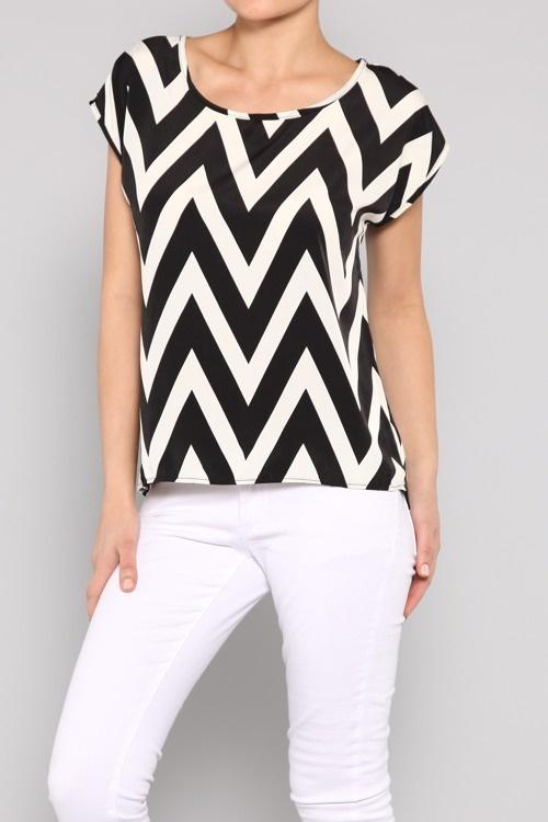 Fantastic Multicolor Chevron Print Blouse - Womenu0026#39;S Lace Blouses