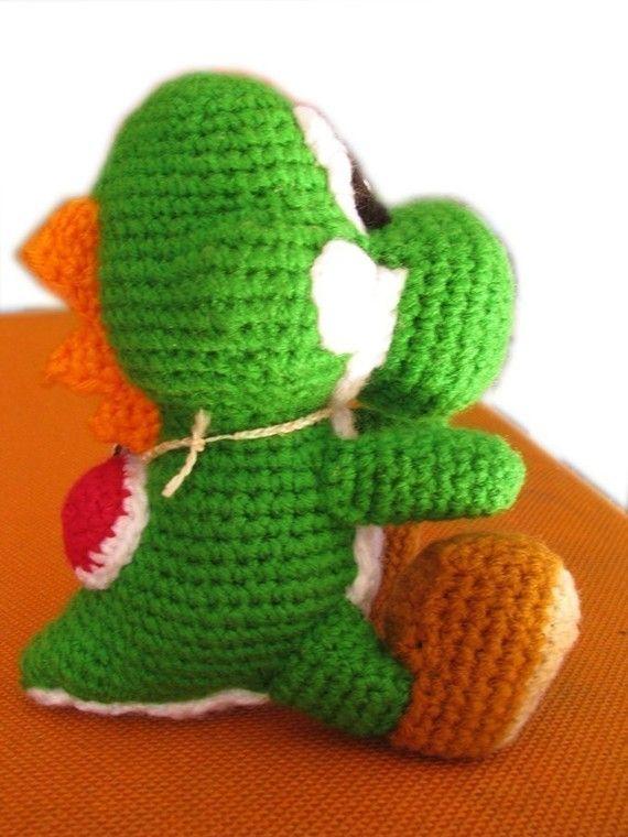 Crochet Patterns Yoshi : PDF Amigurumi Pattern - Yoshi inspired doll Dinosaur