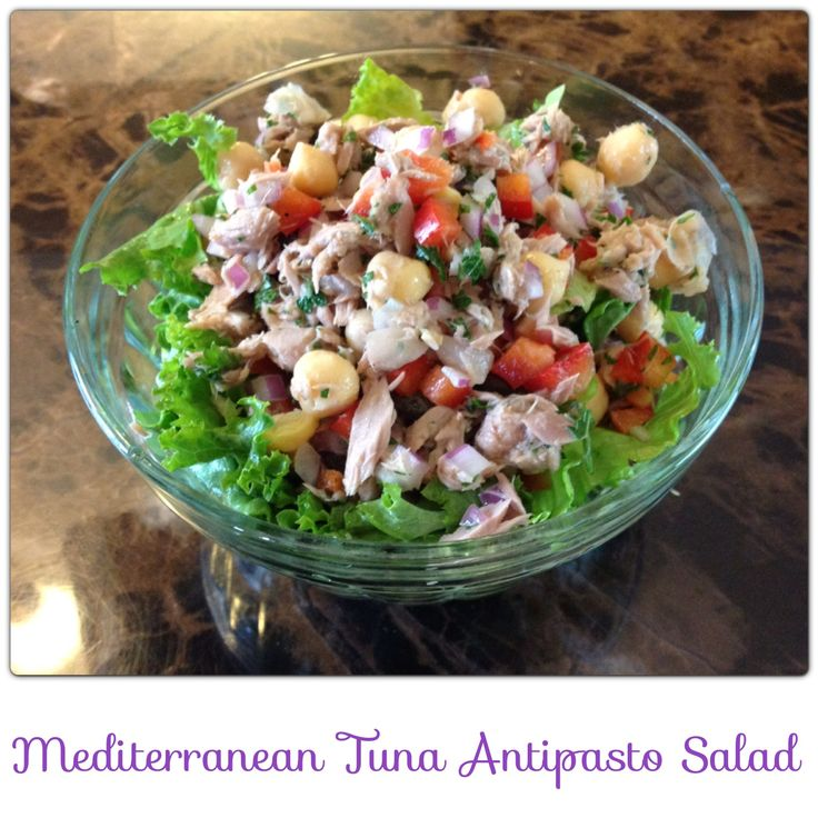 Mediterranean Antipasto Tuna Salad | Healthy Soups, Salads, Sides and ...