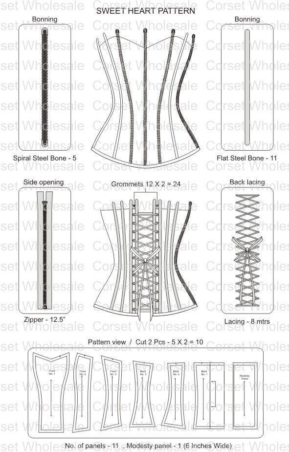 Corset Pattern Sewing