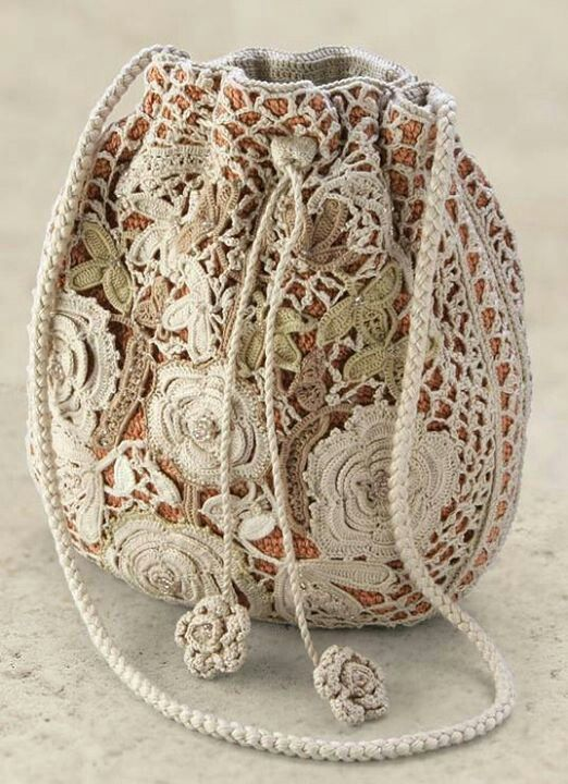 Irish Crochet Bag Free Pattern : Irish Crochet SACS Pinterest