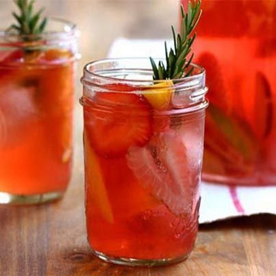 Today, indulge in a refreshing glass of Strawberry-Rhubarb Sangria ...