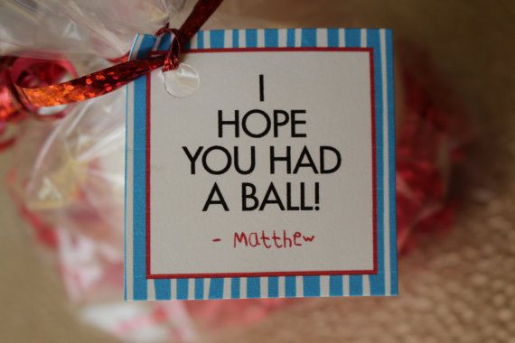 """We Hope You Had a Ball"""" for twin parties #sports birthday party favor ..."""