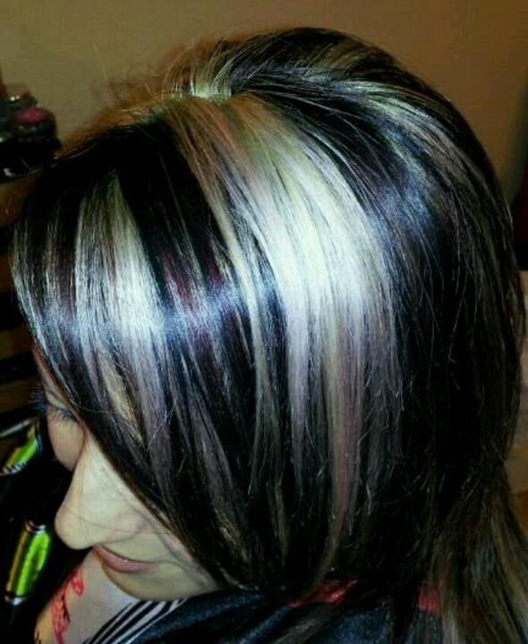 Blonde, red and brown chunks | Hair | Pinterest