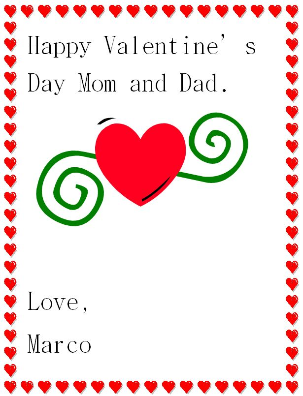 valentine's day letter for mom and dad