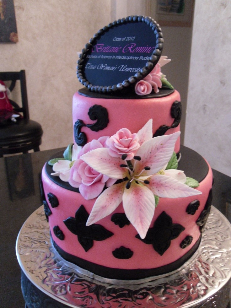 Graduation Cake My Fondant Cake Designs Pinterest