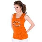 #fanaticsSummerWishList Touch by Alyssa Milano Chicago Bears Ladies Orange Zipper Premium Tank Top