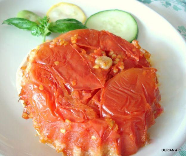 Pistou life : Tatin tomate (upside down tomato pesto cake)
