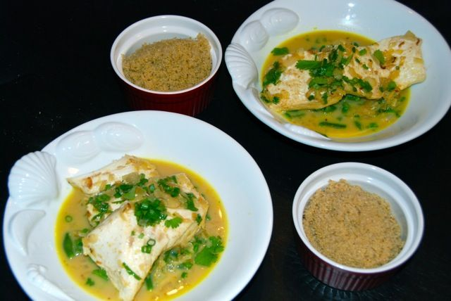 Thai-Style Halibut With Coconut-Curry Broth: Thai-Style Halibut with ...