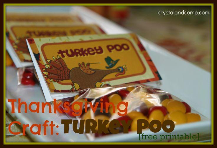 Thanksgiving Crafts: Turkey Poo (free printable)