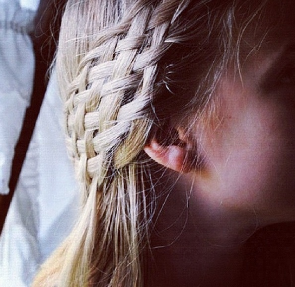 How to make a basket weave hairstyle : Basket weave braid hairography