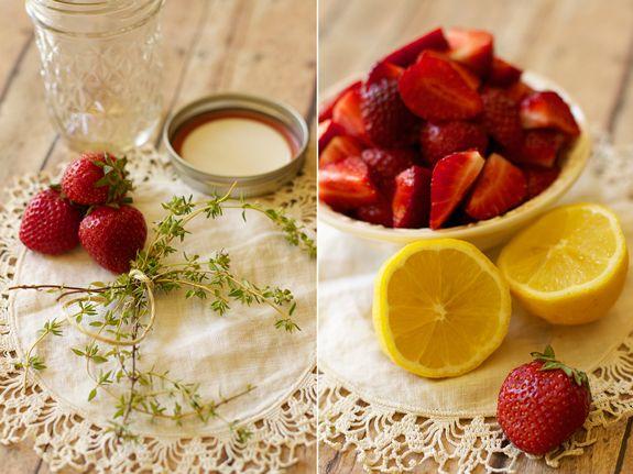 Strawberry Thyme Jam | Pantry Staples | Pinterest