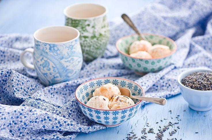 Peach and lavender Ice cream | FOOD | Pinterest