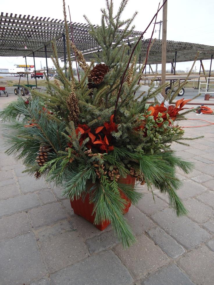Outdoor Christmas Planter Yuletide Wonders Pinterest