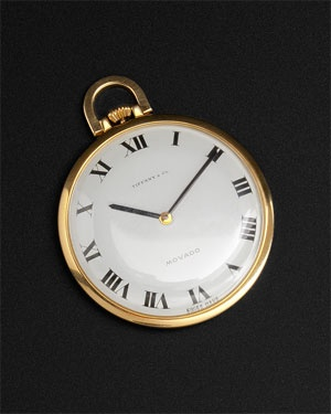 "Tiffany 1970 Vintage ""Movado"" 18K Pocket Watch"