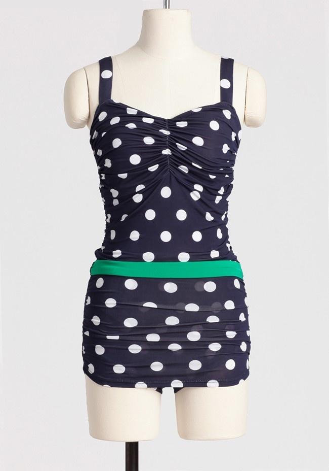#summer polka dot paradise swimsuit