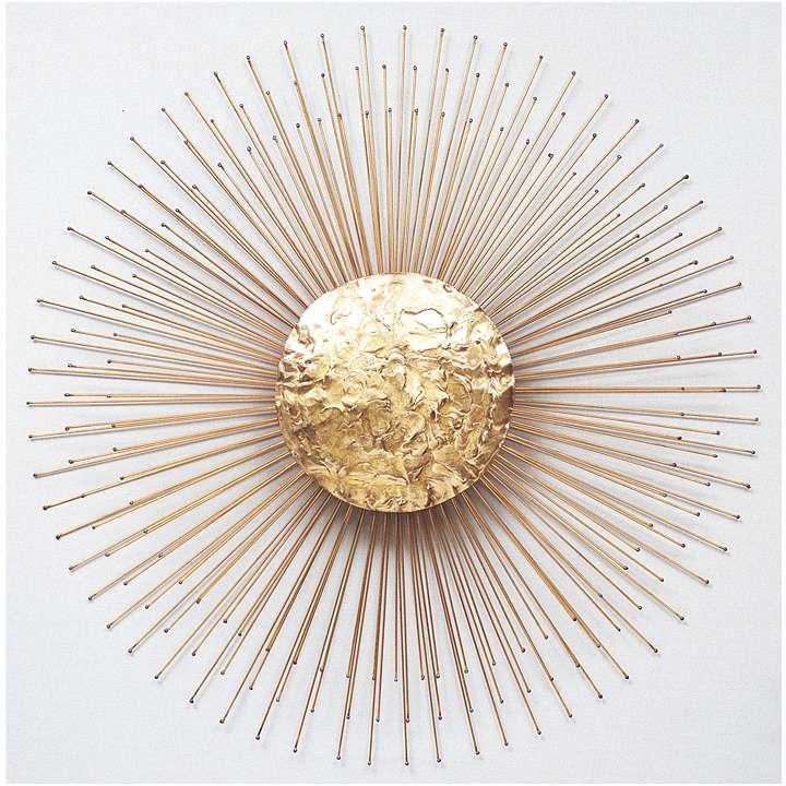 675 34 diameter golden sunburst wall art