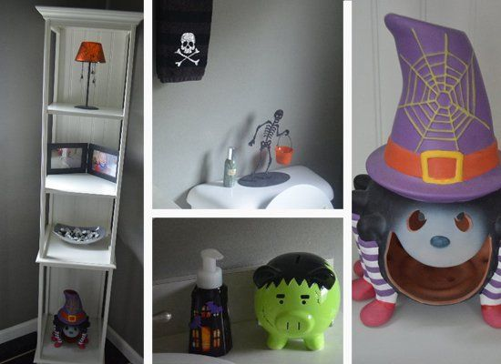 Halloween bathroom set