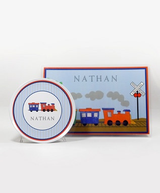 All Aboard Personalized Plate & Placemat | Craft Ideas | Pinterest: pinterest.com/pin/156992736980218227