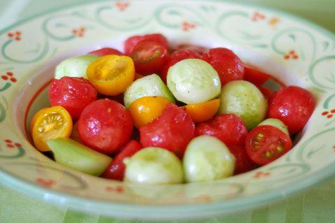 Quick, Refreshing Watermelon Cucumber Salad Recipe — Dishmaps