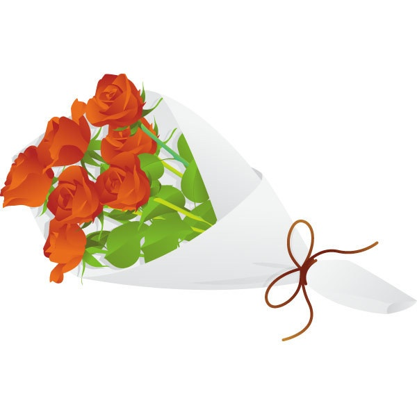 Free Flower Bouquets Clipart liked on Polyvore
