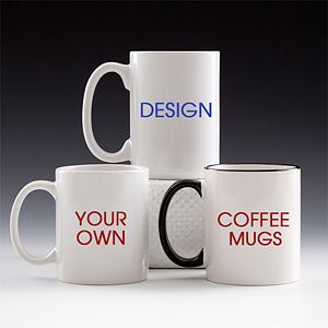 This is AWESOME! You can Design Your Own Custom Coffee mug - this site offers tons of ideas and graphics you can pick from or you can make it from scratch ... great gift idea that's thoughtful and affordable!