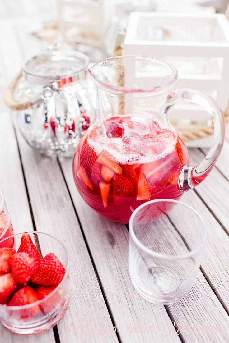 Strawberry-Rhubarb Iced Tea Recipe — Dishmaps