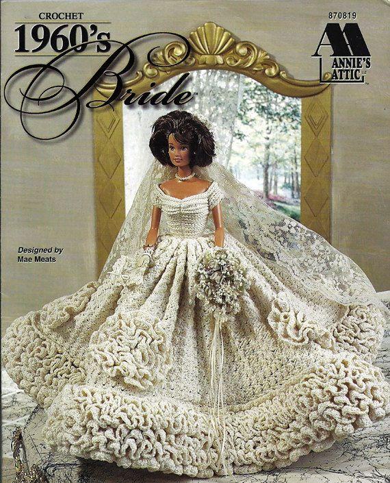 1960 s Bride Gown Crochet Pattern Annies by grammysyarngarden, $12.00
