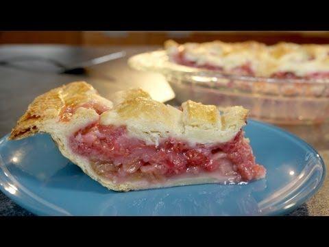 Raspberry Rhubarb Lattice Pie Recipe | Delicious Pies | Pinterest