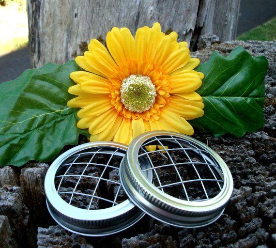 Mason Jar Flower Frog Lids