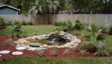 Simple pond back yard ideas pinterest for Easy pond ideas