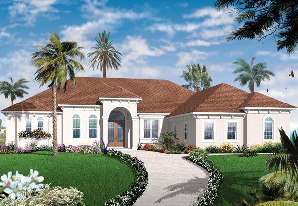 Florida Mediterranean House Plan 76104
