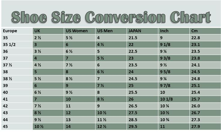 Us Shoe    Size In Metric