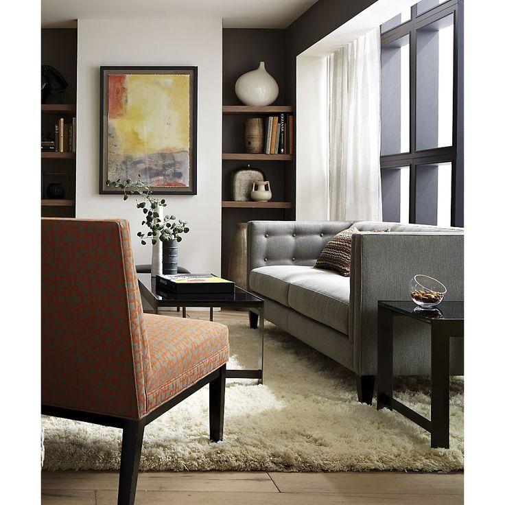 Aiden Sofa Crate And Barrel Contemporary Decor Pinterest