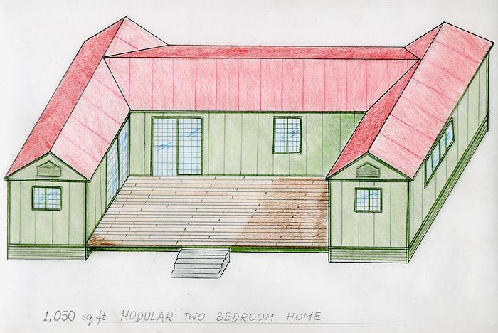 House Sloping Roof Also Cape Chalet Modular Home Plans In Addition