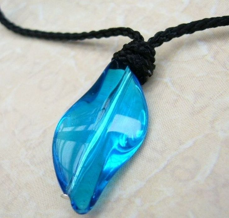 h20 just add water mermaid style blue crystal necklace